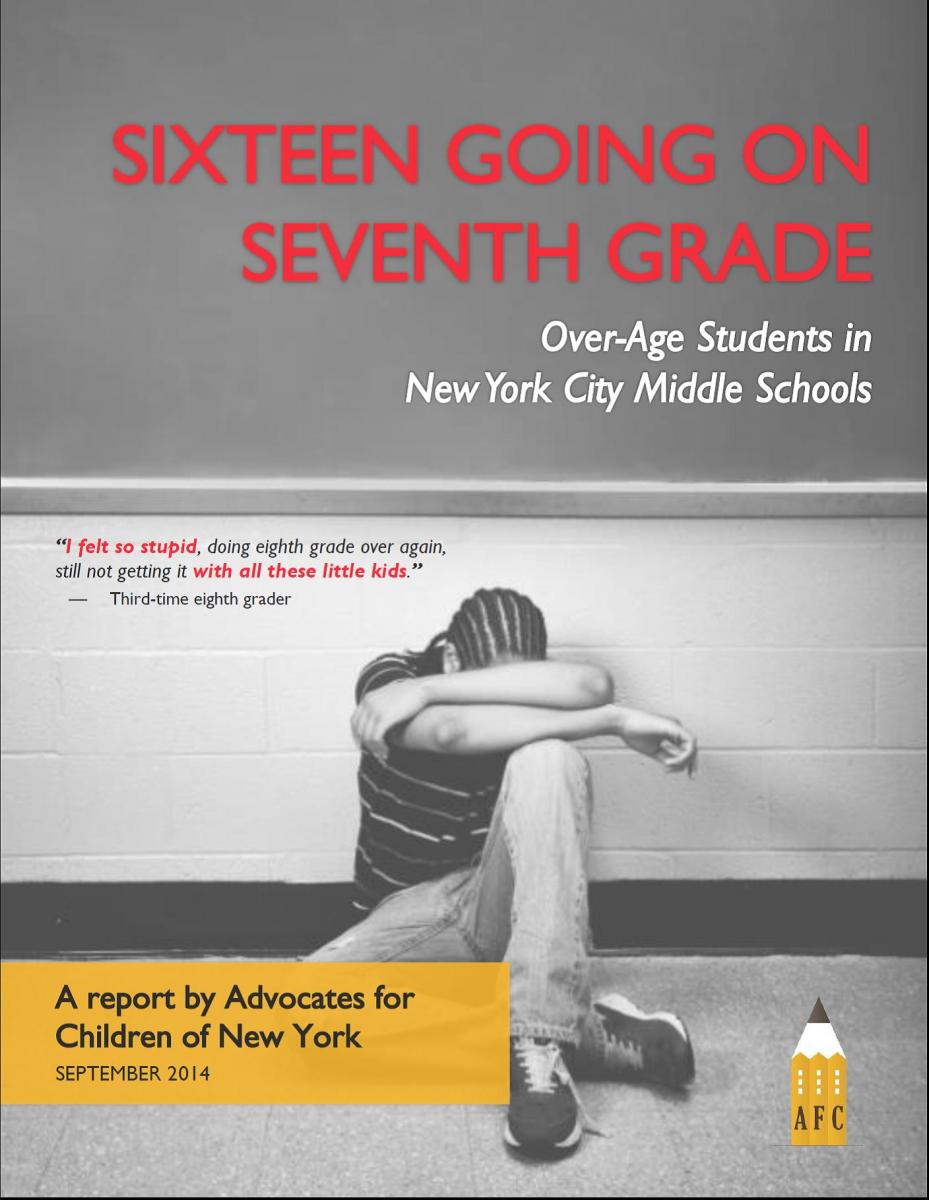 Sixteen Going on Seventh Grade report cover