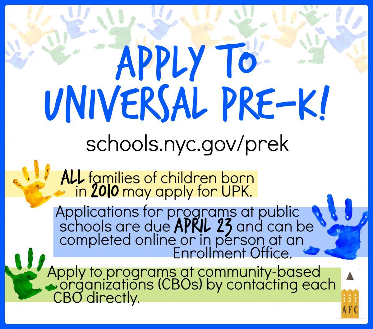 applytoupk - Nyc Pre Kindergarten Application